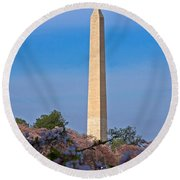 Tidal Basin Cherry Blossoms #2 Round Beach Towel