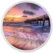 Tidal Lace Round Beach Towel