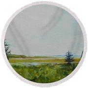 Tidal Plains Round Beach Towel