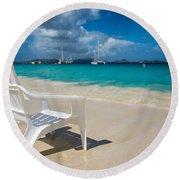 Tidal Seat Round Beach Towel