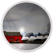 Tide Mill Round Beach Towel
