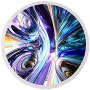 Tide Pool Abstract Round Beach Towel