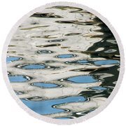 Tide Pools On The Water Round Beach Towel