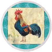 Tiffany Rooster 2 Round Beach Towel