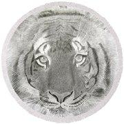 Tiger #1 Round Beach Towel