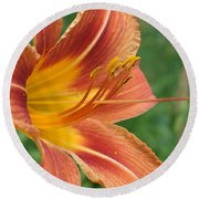 Tiger Lilly Round Beach Towel