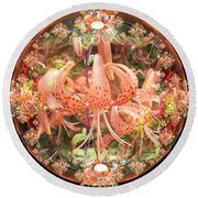 Tiger Lily Sphere Round Beach Towel