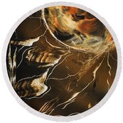 Tiger Stripe Round Beach Towel