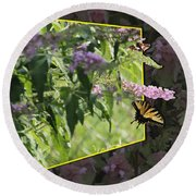 Tiger Swallowtail Oob-featured In Beautycaptured-oof-harmony And Happiness Round Beach Towel