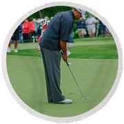 D12w-457 Tiger Woods Round Beach Towel
