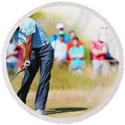 Tiger Woods - The British Open Golf Championship Round Beach Towel