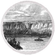 Tightrope Walker, 1860 Round Beach Towel