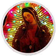 Tijuana Mary Round Beach Towel