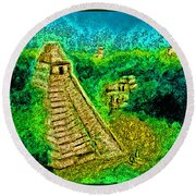 Tikal By Jrr Round Beach Towel