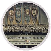 Tiki Room Adventureland Disneyland Round Beach Towel