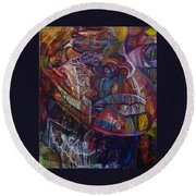 Tikor Woman Round Beach Towel by Peggy  Blood