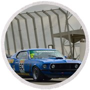 Tilley Racing Mustang Round Beach Towel