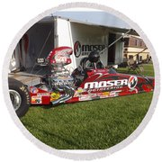Tim Irwin Dragster Round Beach Towel
