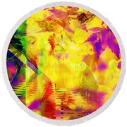 Time As An Abstract Round Beach Towel