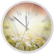 Time Blurred Round Beach Towel