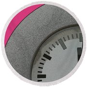 Time Clicks On Round Beach Towel