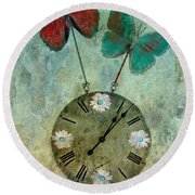 Time Flies Round Beach Towel by Aimelle