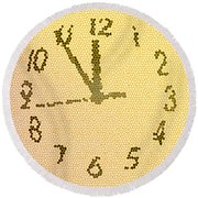 Time Fracture Round Beach Towel