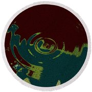 Time Fusion  Round Beach Towel