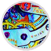 Time In Abstract 20130605 Round Beach Towel