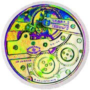 Time In Abstract 20130605m144 Square Round Beach Towel