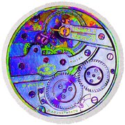 Time In Abstract 20130605m36 Square Round Beach Towel