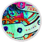 Time In Abstract 20130605m36 Round Beach Towel