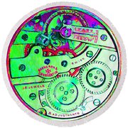 Time In Abstract 20130605m72 Square Round Beach Towel