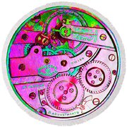 Time In Abstract 20130605p108 Square Round Beach Towel