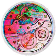 Time In Abstract 20130605p144 Square Round Beach Towel
