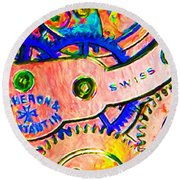Time In Abstract 20130605p180 Long Round Beach Towel