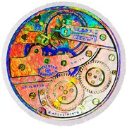 Time In Abstract 20130605p180 Square Round Beach Towel