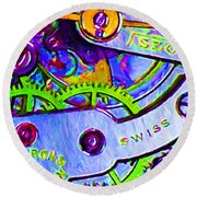 Time In Abstract 20130605p36 Round Beach Towel
