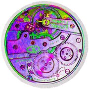 Time In Abstract 20130605p72 Square Round Beach Towel