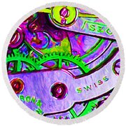 Time In Abstract 20130605p72 Round Beach Towel