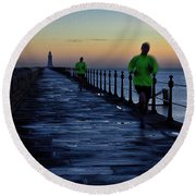 Time Lapse Runner Round Beach Towel
