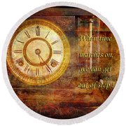 Time Marching Round Beach Towel