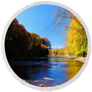 Time Moving On Round Beach Towel