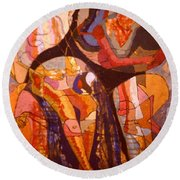 Time Passes From Reading Series Round Beach Towel