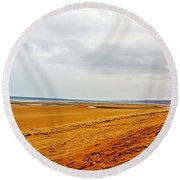 Time Remembers Round Beach Towel
