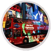 Time Square Round Beach Towel
