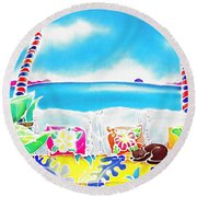 Time Stands Still Round Beach Towel