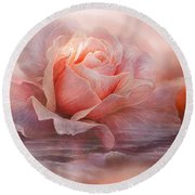 Time To Say Goodbye Rose Round Beach Towel