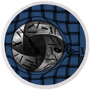 Time Weaves Round Beach Towel