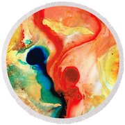 Time Will Tell - Abstract Art By Sharon Cummings Round Beach Towel